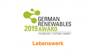 German renewables Award 2019 – Lebenswerk