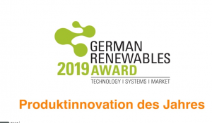 German Renewables Award 2019 – Produktinnovation