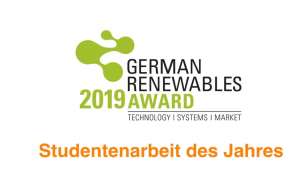 German Renewables Award 2019 – Studentenarbeit